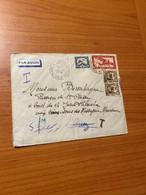 LETTRE DE 1937 - INDOCHINE POUR LA FRANCE PAR AVION  ( Voire Scan ) Port Offert - Storia Postale