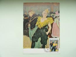 CARTE MAXIMUM CARD LA CLOWNESSE DE TOULOUSE LAUTREC GRENADE - Impressionisme