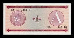 Cuba 1 Peso Certificado De Divisa 1985 Serie A Pick FX 1 SC UNC - Cuba