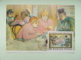 CARTE MAXIMUM CARD OEUVRE DE TOULOUSE LAUTREC HONGRIE - Impressionisme