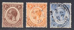 British Honduras 1922-33 Cancelled, Sc# ,SG 127,129,131 - Britisch-Honduras (...-1970)