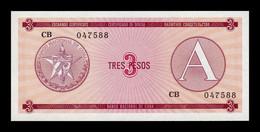 Cuba 3 Pesos Certificado De Divisa 1985 Serie A Pick FX 2 SC UNC - Cuba