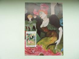 CARTE MAXIMUM CARD MARCELLE LENDER DANSANT LE BOLERO DE TOULOUSE LAUTREC GRENADE - Impressionisme