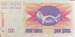 Bosnia 10 Dinara, P-10 (1.7.1992) - UNC - Bosnia Erzegovina