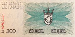 Bosnia 100 Dinara, P-13 (1.7.1992) - UNC - Bosnia Erzegovina