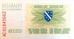 Bosnia 5.000 Dinara, P-16a (25.1.1993) - UNC - Bosnia Erzegovina
