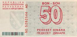 Bosnia 50 Dinara, P-23 (1.8.1992) - UNC - Bosnia Erzegovina