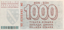 Bosnia 1.000 Dinara, P-26 (1.8.1992) - UNC - Bosnia Erzegovina