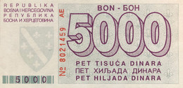 Bosnia 5.000 Dinara, P-27 (1.8.1992) - UNC - Rare In This Condition - Bosnia Erzegovina