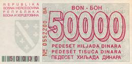 Bosnia 50.000 Dinara, P-29 (1.5.1993) - UNC - Rare In This Condition - Bosnia Erzegovina