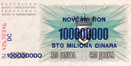 Bosnia 100.000.000 Dinara, P-37 (10.11.1993) - UNC - Bosnia Erzegovina