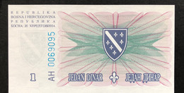 Bosnia 1 Dinara, P-39 (15.8.1994) - UNC - Bosnia Erzegovina