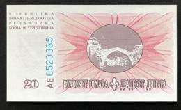Bosnia 20 Dinara, P-42 (15.8.1994) - UNC - Bosnia Erzegovina