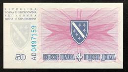 Bosnia 50 Dinara, P-43 (15.8.1994) - UNC - Bosnia Erzegovina