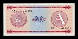 Cuba 20 Pesos Certificado De Divisa 1985 Serie A Pick FX 5 SC UNC - Cuba