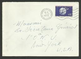 N° 1756 - 0.90 Grand Orient De France / SARCELLES 07.11.1973 Pour Les USA - Marcophilie (Lettres)