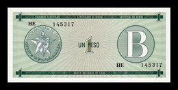 Cuba 1 Peso Certificado De Divisa 1985 Serie B Pick FX 6 SC UNC - Cuba