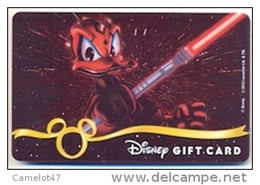 Disney Gift Card For Collection, Without Value,  # Dgc-256   Star Wars Weekends Series - Gift Cards