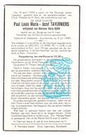 DP Dokter - Paul Taverniers ° Zuurbemde Glabbeek 1885 † Sint-Joris-Winge 1955 X M. Boon / Begr. Abdij V Park Heverlee - Devotion Images