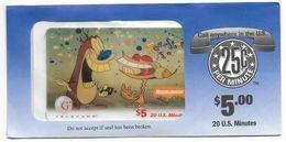 GTI  U.S.A., Movies & TV, The Ren & Stimpy Show, $5, Prepaid Phone Card, SAMPLE, # Gtim-59 - Kino