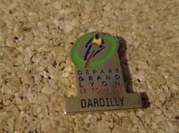 PINS CYCLISME VELO TOUR DE FRANCE 91 DEPART GRAND LYON DARDILLY - Ciclismo