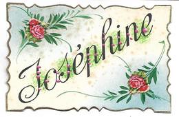 PRENOM - JOSEPHINE - Carte Peinte à La Main - Firstnames