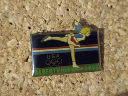 PINS JEUX OLYMPIQUES ALBERTVILLE 1992 USA PATINAGE - Olympic Games