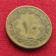 Iran 10 Dinars 1938 / 1317 KM# 1139 Lt 736  Irão Persia Persien Dinar - Irán