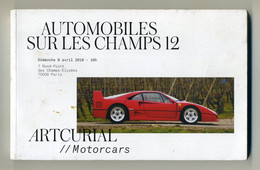 Catalogue De Vente Aux Enchères. Artcurial Motorcars. Vente Du Dimanche 08-04-2018, Paris. Lire Description. Ferrari Etc - Books, Magazines, Comics