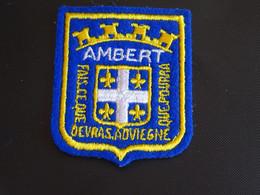 Blason écusson Tissu Feutrine Ambert (Puy De Dôme)) Wappen Coat Arms Escudo Stemma - Patches