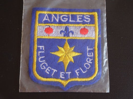 Blason écusson Tissu Feutrine Anglès (Tarn) Wappen Coat Arms Escudo Stemma - Patches