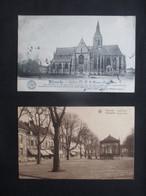 LOT 2 CP BELGIQUE BELGÏE (V2022) VILVOORDE VILVORDE (2 Vues) Grand Place Notre Dame De Bonne Espérance - Vilvoorde