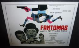 Carte Postale : Louis De Funes - Fantomas Contre Scotland Yard (Jean Marais) (affiche Film Cinéma) Ill.: Charles Rau - Posters On Cards