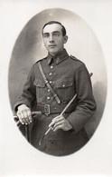 V9Sv  Carte Photo Militaire Soldat Valette 3eme Regiment D'infanterie De La Marine Cravache - Photographs