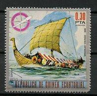 Guinée équatoriale - Guinea 1975 Y&T N°66-0,30p - Michel N°550 (o) - 0,30p Drackar Vicking - Equatorial Guinea