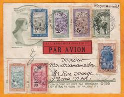 1er Décembre 1931: Raid Des Aviateurs Goulette Et Salel De Tananarive à Paris Via Djibouti Sur Avion Farman F.199 N°4 - Storia Postale