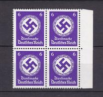 Deutsches Reich - Dienstmarken - 1942/44 - Michel Nr. 169 A Viererblock Rand - Postfrisch - Dienstpost