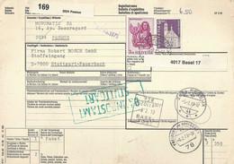 Begleitadresse  Peseux - Stuttgart              1973 - Brieven En Documenten