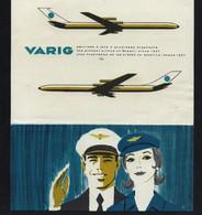 VARIG Viação Aérea Rio-Grandense Envelope / Papel De Carta PUBLICIDADE - Vintage Stationary Aviation BRASIL / BRAZIL - Stationery