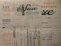 Z083 - Facture Et Traite De 1930 - DISTILLERIE DE LA SUZE - Maisons-Alfort Et Pontarlier - Frankreich
