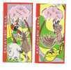 Latvia  - Lottery Ticket -  Monkey + Parrot + Elephant  -   Treasure Island - Lottery Tickets