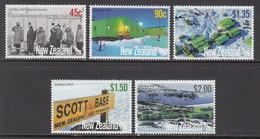 2007 New Zealand Scott Base Antarctica  Complete Set Of 5 MNH - Nuevos
