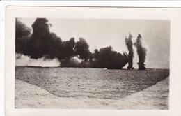 PHOTO ORIGINALE 39 / 45 WW2 MARINE FRANCAISE BATAILLE DE DAKAR 1940 LES FUMEES DE PROTECTION - Krieg, Militär