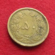 Iran 50 Dinars 1952 / 1331 KM# 1142 Lt 111 RARE  Irão Persia Persien Perse Dinar - Irán