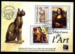 B-F N° 23 - Philexfrance 1999 - Oblitéré - Très Beau - Cote : 50 Eur - Sheetlets