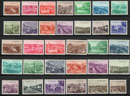 Turkey 1958 Turkish Cities Adana - Burdur 32 Values MNH 2009.2916 Adana, Antalya, Bridge At Bolu, - Geography