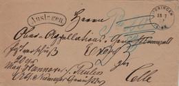 Auslagenbrief Moringen Ans Ober-Appelationsgericht In Celle [Postraub - Gentlemen Bitten Zur Kasse] 1872 - Briefe U. Dokumente