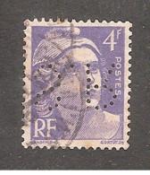 Perforé/perfin/lochung France No 718  S.R Silbert Et Ripert - Perforadas