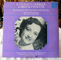 Kathleen Ferrier & Bruno Walter : Schubert / Schuman / Brahms - Opera / Operette