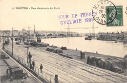 """LOIRE ATLANTIQUE  44  NANTES - VUE GENERALE DU PORT - CACHET """"TOUR DE FRANCE CYCLISTE 1909"""" - Nantes"""